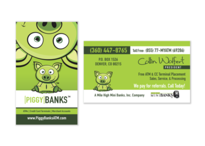 Piggy Banks ATM Business Cards