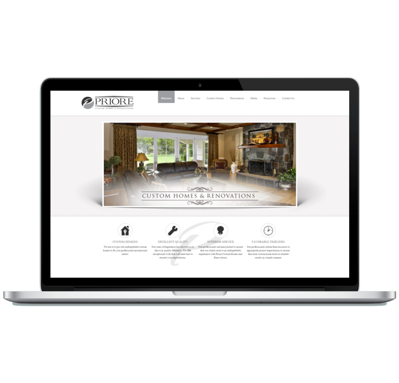 Priore Custom Homes Website