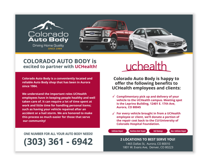 Colorado Auto Body Postcard | Lamberk