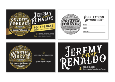 Devoted Forever Business Cards