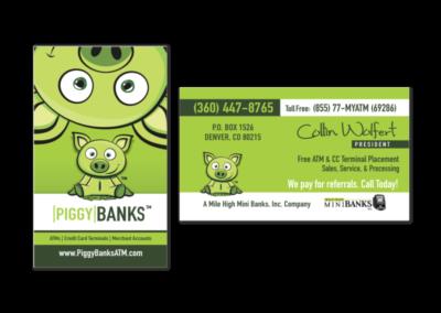 Piggy Banks ATM Business Cards