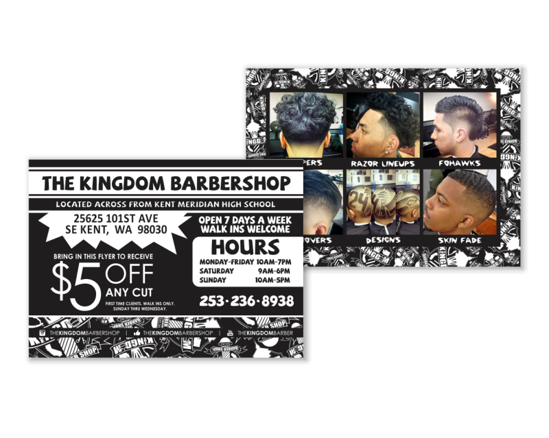 Kingdom Barber Postcard