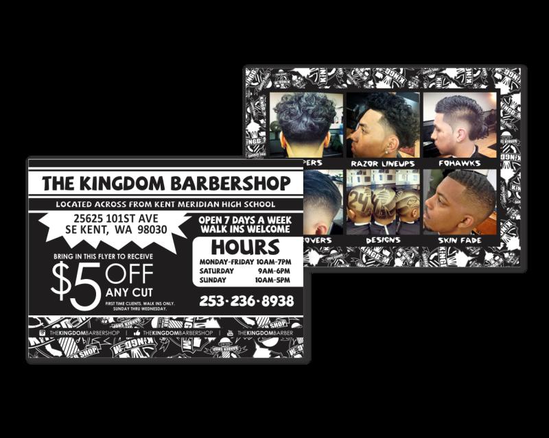 Kingdom Barber Postcard