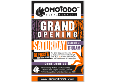 Komotodo Opening Flyer