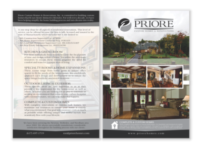 Priore Custom Homes Flyer